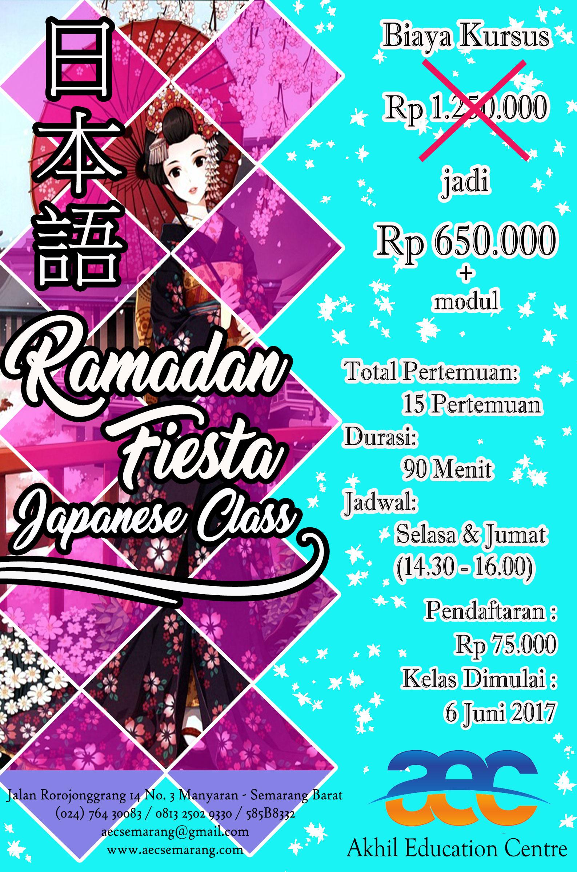 Kelas Bahasa Jepang Bulan Ramadan