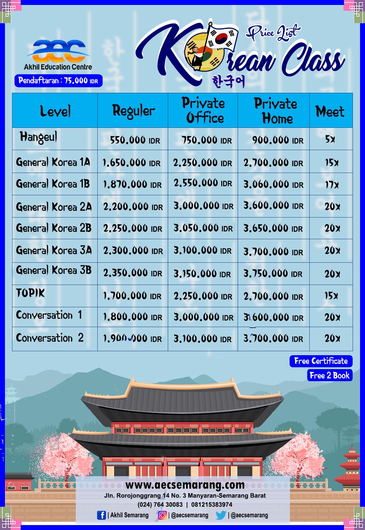 Daftar Biaya Kursus Bahasa Korea 2020 Kursus Bahasa Mandarin Bahasa Mandarin Semarang Kursus Bahasa Mandarin Semarang Kursus Bahasa Mandarin Semarang 2020